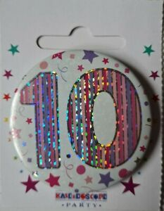 10th BIRTHDAY BADGE