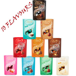 LINDT LINDOR MILK CHOCOLATE 10 FLAVOURS  200g CHRISTMAS GIFT UK (SELECT 2 BOXES)