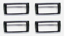 NEW! 1969 Ford Mustang Marker Light Lamp Bezels Chrome Set of 4 Front & Back