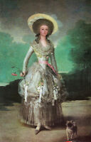 Oil Francisco de Goya -  Noblelady Maria Ana de Pontejos with her pet dog flower