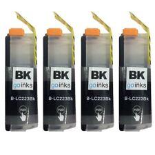 4 Cartucce di inchiostro Nero per Brother DCP-J4120DW,MFC-J4625DW,MFC-J5625DW