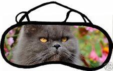 Mascherina da sonno cache occhi anti luce affaticamento gatto personalizzabile
