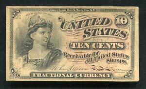 FR. 1257 10 TEN CENTS FOURTH ISSUE FRACTIONAL CURRENCY NOTE