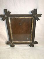 Antique Vtg PRIMITIVE wood 8x10 picture photo FRAME ARTS CRAFTS Mission Style