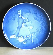 Bing and Grondahl 1985 Children's Day Plate Magical Tea Party Girl w Cat Free Sh