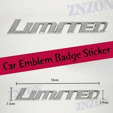 LIMITED Silver Chrome Logo Car Emblem Badge Sticker Decal Brand new