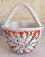 Cestino Ceramica Motivo Decorativo Fiore Firmato Numerata Ceramiche Scarpe