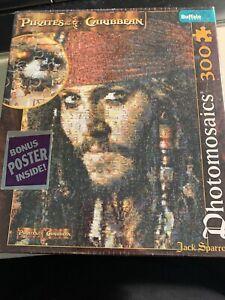 Buffalo Jigsaw Puzzle Pirates Caribbean Jack Sparrow Photomosaics 300 pc NEW