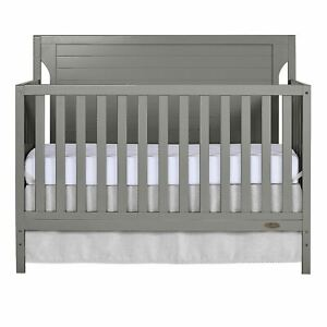 Dream On Me Cape Cod 5-in-1 Convertible Crib, Storm Gray