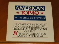 SHADOE STEVENS 18 Anniversary American Top 40 USA PROMO CD Andy Gibb KNACK Wham