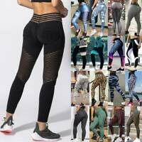 Women's Sports Yoga Pants PUSH UP Leggings High Waisted Gym Workout Fitness A89