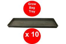 10 x BLACK GROW BAG TRAY - 1 METRE - GARDEN TRAY - RIGID - TOUGH - WATERING TRAY