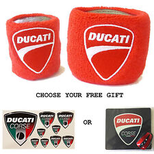 DUCATI RESERVOIR COVERS WITH FREE GIFT SOCK WRISTBAND 748 916 996 998 749 999