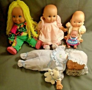 LOT OF 5 BABY DOLLS FROM 80'S & 90'S: LISSI, PLAYSKOOL, BERENGUER, UNEEDA