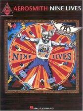 Aerosmith Nine Lives Sheet Music Song Book Gutar Tab Tablature (1997, Paperback)