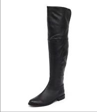 Designer Tony Bianco over the knee black leather boots Harlei UK size 4 RRP $349