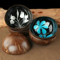NATURAL COCONUT SHELL CANDY FOOD CONTAINER KEYS STORAGE BOWL HOME DECORS ORNATE