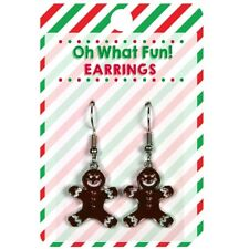 Earrings, by MidWest Cbk Gingerbread Man Christmas Dangle