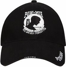 POW / MIA Black Cap - Deluxe Low Profile Hat