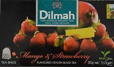 Dilmah Tee-Mango & Strawberry flavoured black Ceylon Tea 20 bustina del tè