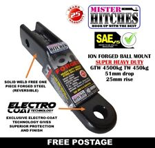 """FORGED SOLID STEEL 4500KG 2"""" DROP TOWBAR TONGUE TOW BALL MOUNT HITCH 2"""" X 2"""""""