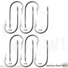 10pcs 11/0 Fishing 7691S Stainless Steel Hooks Tuna Dorado Wahoo Marlin NEW @US