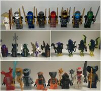 Ninjago Minifigures - Ninjas, Snakes, Ghosts, Sensei - Lego Compatible