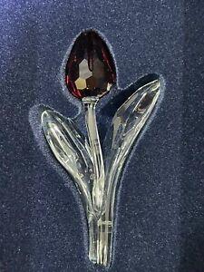 Swarovski Crystal 2003 Red Tulip + Mini Tulips 3 Year Renewal Gift Unopened Box