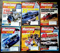(Lot of 6) Mustangs & Fords Magazine 2003 & 2004 Shelby Cobra Boss FREE SHIPPING