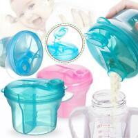 Milk Powder Dispenser 3 Dose of Baby Feeding Formula Pot Storage Container Fast