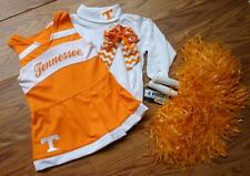 CHEERLEADER COSTUME OUTFIT HALLOWEEN TENNESSEE VOLUNTEERS 2T POM POMS BOW SET
