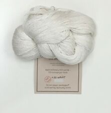 Silk /&Ivory silk wool blend yarn Natural 1//2 hank needlepoint knit crochet