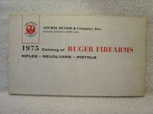 RUGER FIREARMS 1975 gun catalog poster