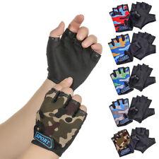 Child Bicycle Gloves Children's Bike Gloves Camouflage Half Finger Mittens