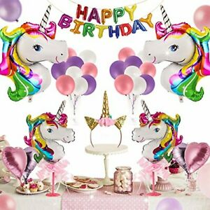 Unicorn Party Supplies - 42 Pcs for Birthday DecorationsBirthday party favors...