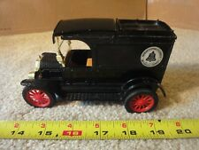 Ertl diecast vintage 1913 Ford model T van truck. AT&T Telephone coin bank model
