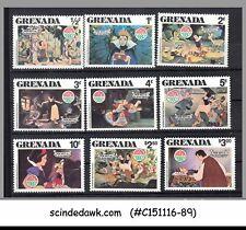 GRENADA - 1980 CHRISTMAS / SNOW WHITE / DISNEY / ANIMATION 9V MNH