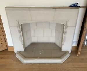 Reclaimed Stone Fire Place