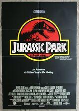 JURASSIC PARK 1993 Original Australian movie poster Spielberg classic dinosaurs