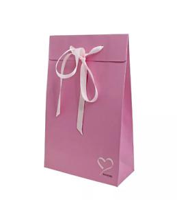 Genuine PANDORA Pink Love Heart Gift Bag & FREE Velvet Pouch - charm, ring