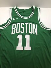 f6107c38d02 NIKE AUTHENTIC ICON KYRIE IRVING BOSTON CELTICS NBA JERSEY GREEN WHITE sz  40 S