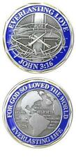 Catholic Christian Religious Challenge Coin Token: John 3:16 LOVE + BONUS BOOK