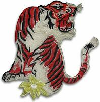 Large 9.5 inch bright Red tiger patch, sew on Gucci Style, shipped from USA