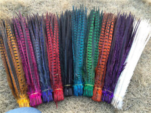 Wholesale! 10-100 Pcs 25 -60 cm / 10-24 inch natural pheasant tail feathers Hot
