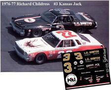 CD_1215 #3 Richard Childress Kansas Jack 1976-77 Monte Carlo  1:64 scale decals
