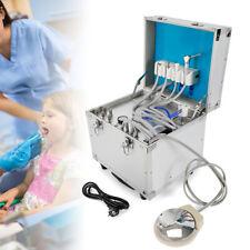 New Listingdental Portable Rolling Box 4 Holes Unit System Delivery Case Air Compressor Set