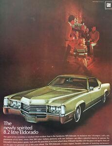 1970 Cadillac Eldorado 8.2L - Big 11x14 Vintage Advertisement Print Car Ad LG34