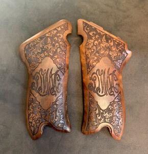 Luger P 08 Turkish Walnut Wood Grips Handmade. Floral. DWM. The Finest Quality