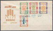 1963 FDC Dubai Mi.50/53 Freedom from Hunger [bl0039]