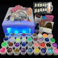 36W White UV Lamp Gel Polish Curing Dryer Light Acrylic Nail Art Kit Set Starter